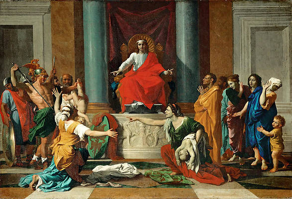 The Judgment of Solomon Print by Nicolas Poussin