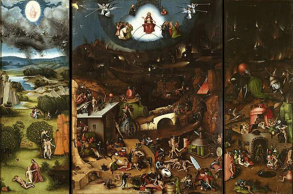 The Last Judgment Triptych Print by Lucas Cranach the Elder