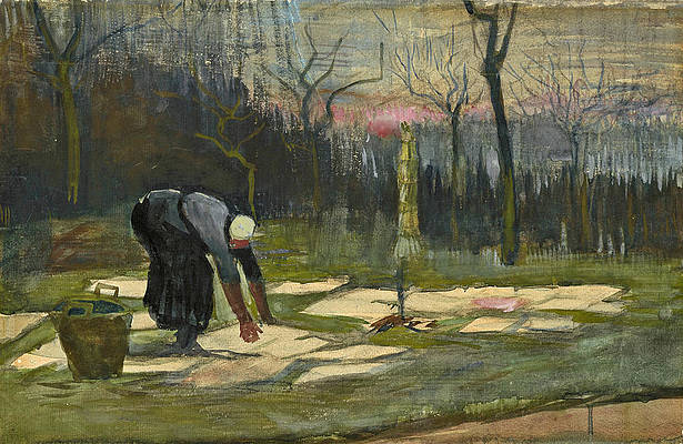 The Laundress Print by Vincent van Gogh