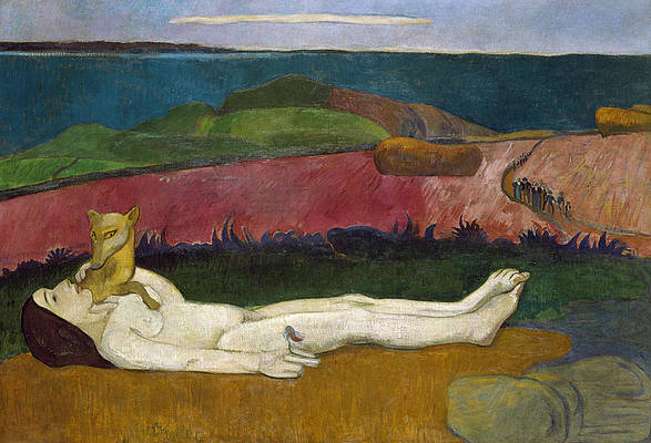 The Loss of Virginity Print by Paul Gauguin