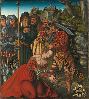 The Martyrdom of Saint Barbara Print by Lucas Cranach the Elder