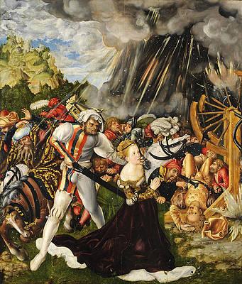 The Martyrdom of Saint Catherine Print by Lucas Cranach the Elder