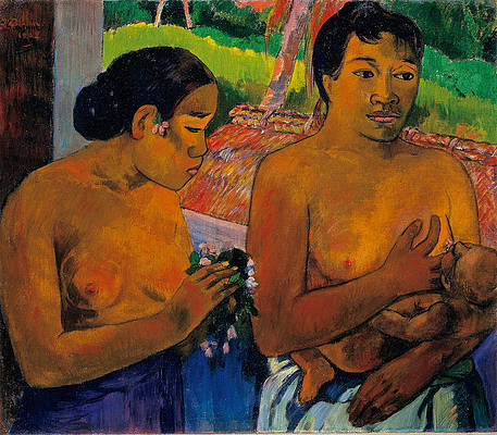 The Offering Print by Paul Gauguin