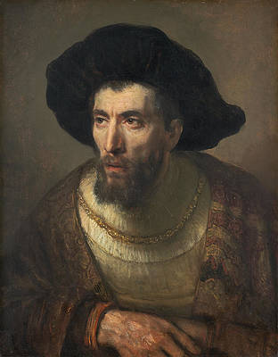 The Philosopher Print by Rembrandt