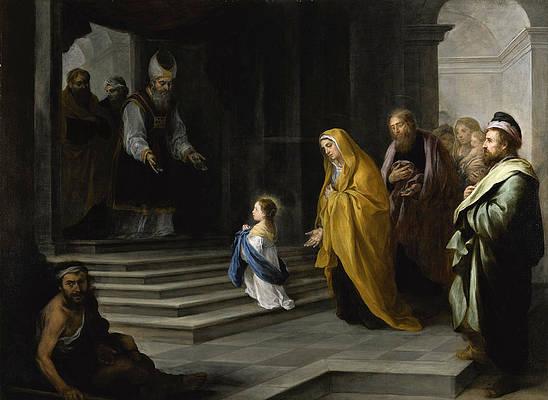 The Presentation of the Virgin Print by Bartolome Esteban Murillo