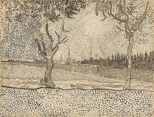 The Road to Tarascon Print by Vincent van Gogh