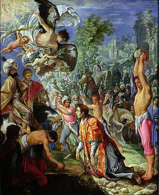 The Stoning of Saint Stephen Print by Adam Elsheimer
