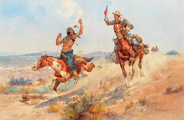 Cowboys And Indians Paintings | Fine Art America