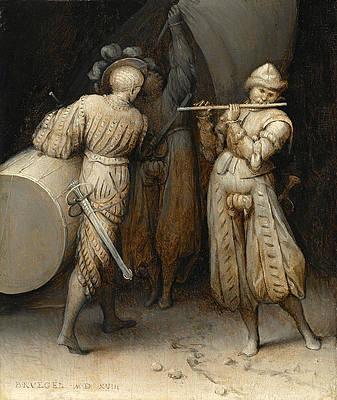 The Three Soldiers Print by Pieter Bruegel the Elder