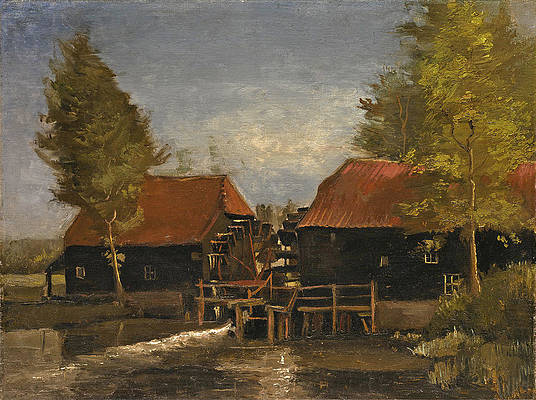 The Water Mill Print by Vincent van Gogh