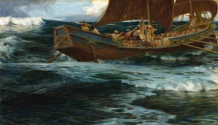 The Wrath of the Sea God Print by Herbert James Draper