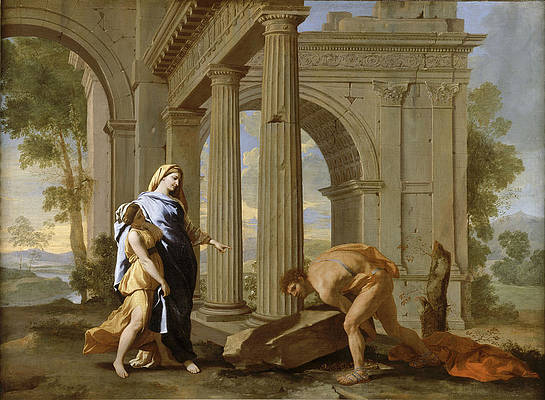 Theseus Finding His Father's Sword Print by Nicolas Poussin and Jean Lemaire