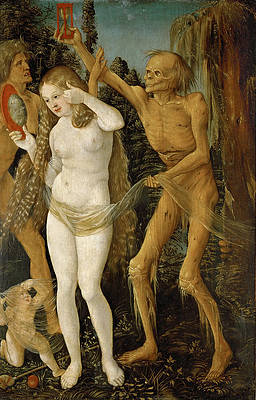 Three Ages of Woman and Death Print by Hans Baldung Grien