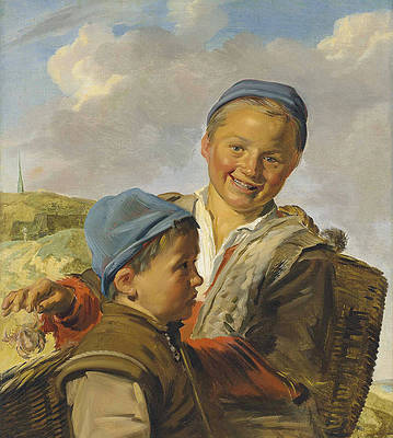 Two Fisherboys Print by Frans Hals