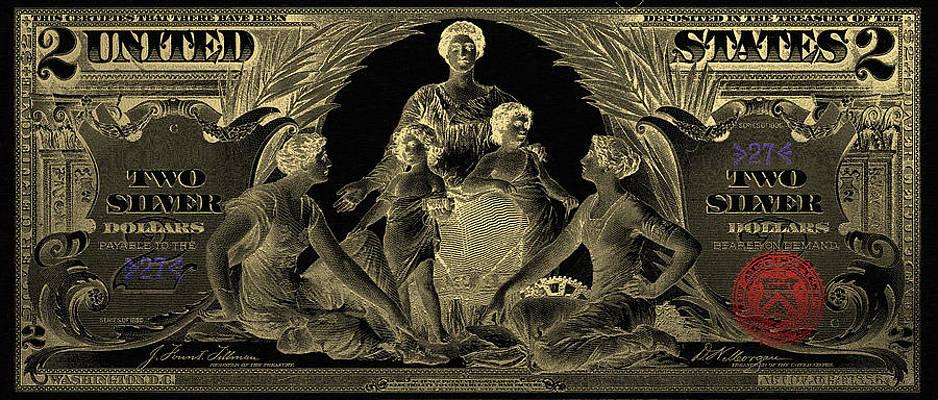 BEAUTIFUL 1896 EDUCATIONAL NOTE HUGE CANVAS ARTWORK! $5 SILVER CERTIFICATE