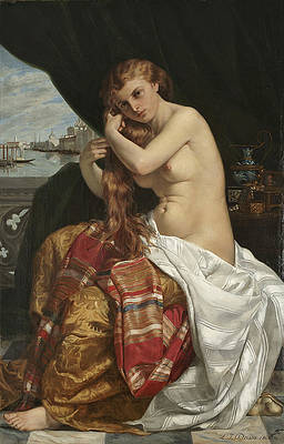 Venetian Lady at Her Toilette Print by Jacques-Louis-Jules David