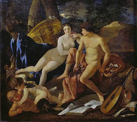 Venus and Mercury Print by Nicolas Poussin