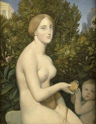 Venus at Paphos Print by Jean-Auguste-Dominique Ingres
