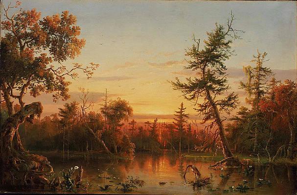 View Dismal Swamp North Carolina Print by Regis Francois Gignoux