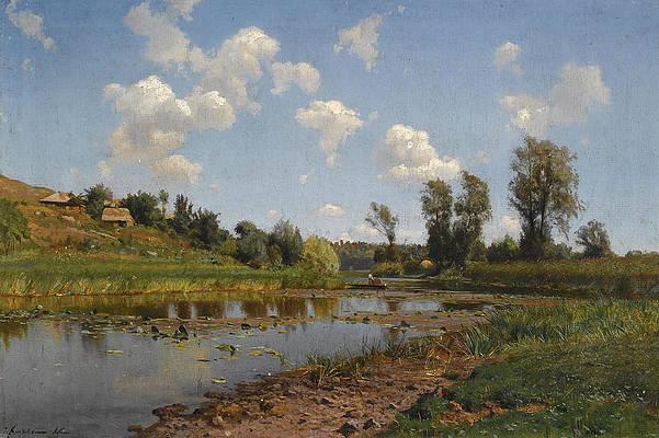 View near Lubni. Ukraine Print by Iosif Evstafevich Krachkovsky