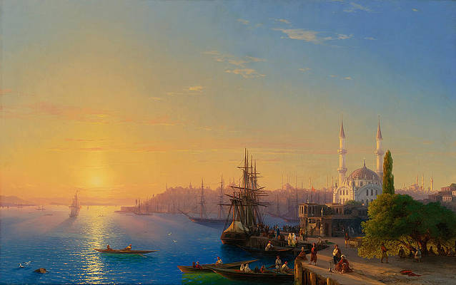 View of Constantinople and the Bosphorus Print by Ivan Konstantinovich Aivazovsky