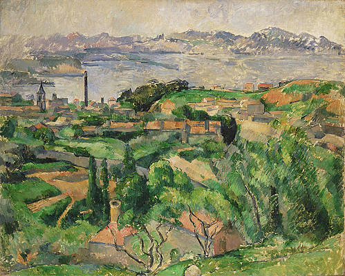 View of the Bay of Marseille with the Village of Saint-Henri Print by Paul Cezanne