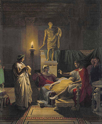 Virgil Reading from the Aeneid Print by Jean-Auguste-Dominique Ingres