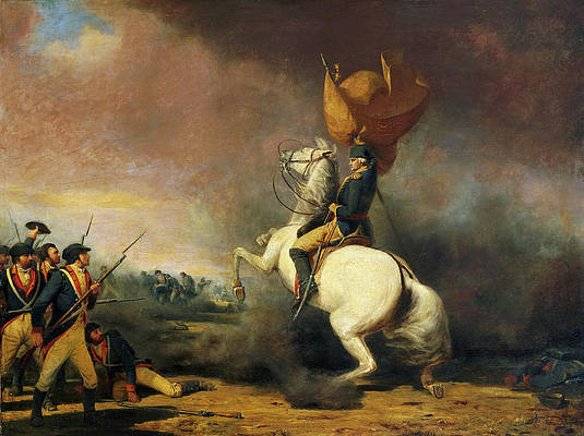 Washington Rallying the Americans at the Battle of Princeton Print by William Ranney
