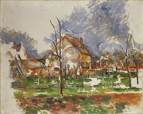 Winter Landscape, Giverny Print by Paul Cezanne