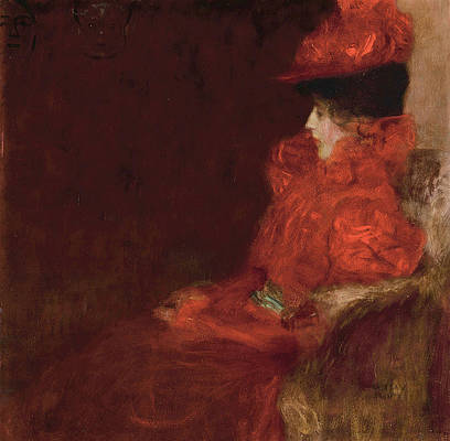 Woman in an Armchair Print by Gustav Klimt