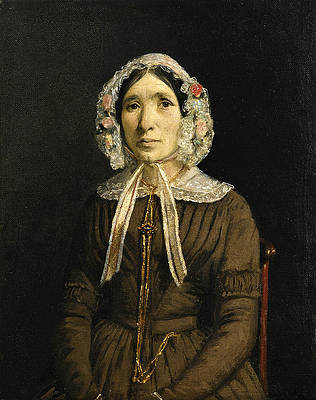 Woman with a Lace Hat Print by Jean-Baptiste-Camille Corot