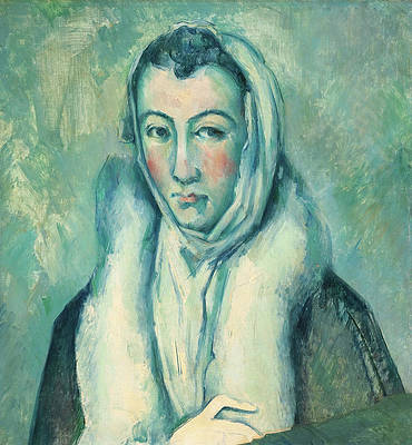 Woman with an Ermine after El Greco Print by Paul Cezanne