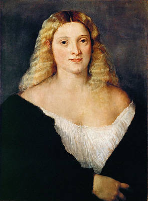 Young Woman in a Black Dress Print by Titian