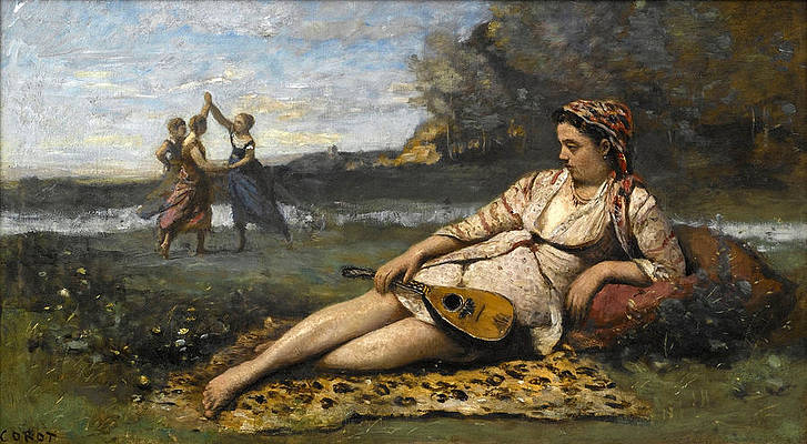 Young Women of Sparta Print by Jean-Baptiste-Camille Corot