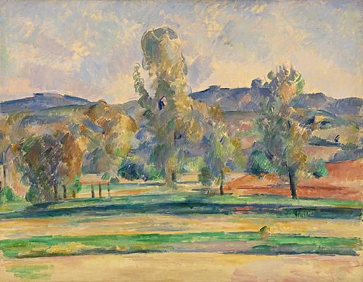 Autumn Landscape Print by Paul Cezanne