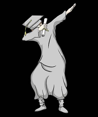 Graduation Cap Drawing - Graduation Dabbing Graduate in Cap and Gown by Kanig Designs