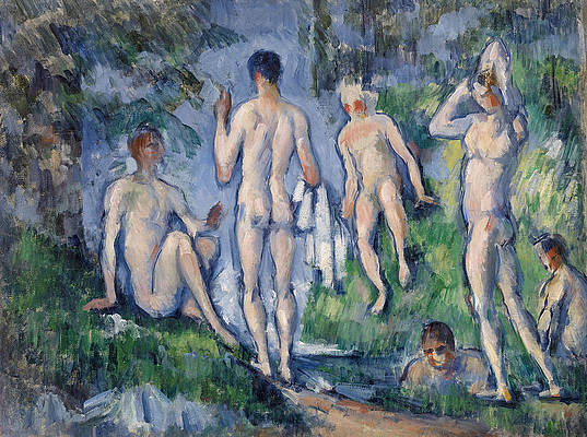 Group of Bathers Print by Paul Cezanne