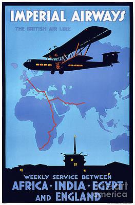 Rio De Janeiro Brazil Air Service Vintage Airline Travel Art Poster Print