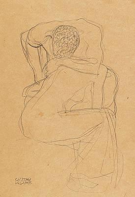 Lovers Print by Gustav Klimt