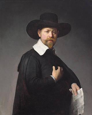 Portrait of Marten Looten Print by Rembrandt