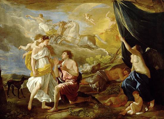 Selene and Endymion Print by Nicolas Poussin