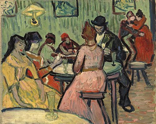The Brothel Print by Vincent van Gogh