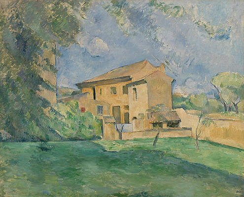 The Farm at the Jas de Bouffan Print by Paul Cezanne