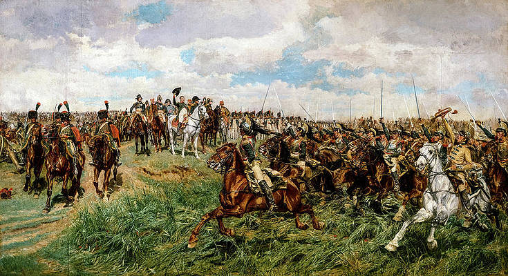 BATTLE OF MONTMIRAIL FRANCE PAINTING NAPOLEON RUSSIAN WAR ART REAL CANVASPRINT
