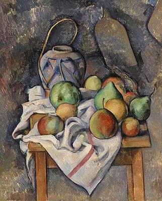 Ginger Jar Print by Paul Cezanne