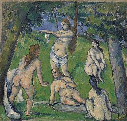 Five Bathers Print by Paul Cezanne