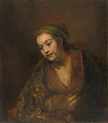 Hendrickje Stoffels Print by Rembrandt