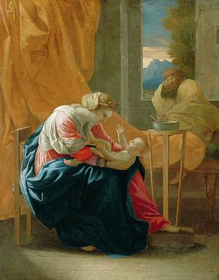 The Holy Family Print by Nicolas Poussin