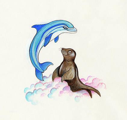 Dolphin Paintings Fine Art America