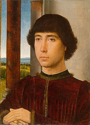 Portrait of a Young Man Print by Hans Memling